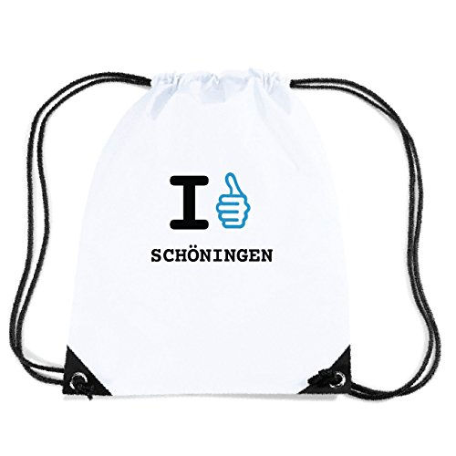 JOllify SCHÖNINGEN Turnbeutel Tasche GYM2185 Design: I like - Ich mag