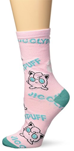 BIOWORLD Pokémon Jigglypuff Juniors Cute Crew Socks (Jigglypuff Pokemon)