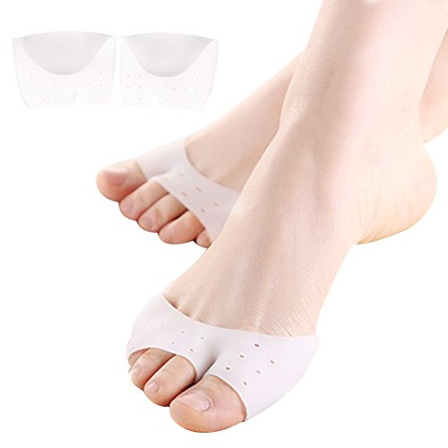 Half Toe Sleeve Metatarsal Pads,Ball of Foot Cushion Bunion Pads Forefoot Insoles for Pain Relief-1 Pair (Wear Foot Protection)