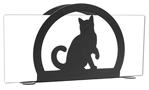 CAT KITTY Metal Letter Napkin Card Holder