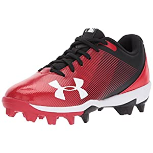 Under Armour Boys' Leadoff Low RM Jr, Black/Red, 12K M US Little Kid