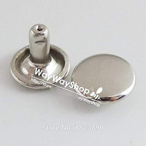 Leather Rivets Set 1000 Sets 8mm Or 3/10'' Double Round Stud Cap Rivet Button Leather Leather Craft Ws by X-CRAFT (Image #5)