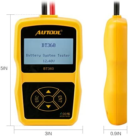 autool Akku System Tester autool BT360/12/V Unterst/ützung 2000/EN//CCA Akku Ladekabel System Tester