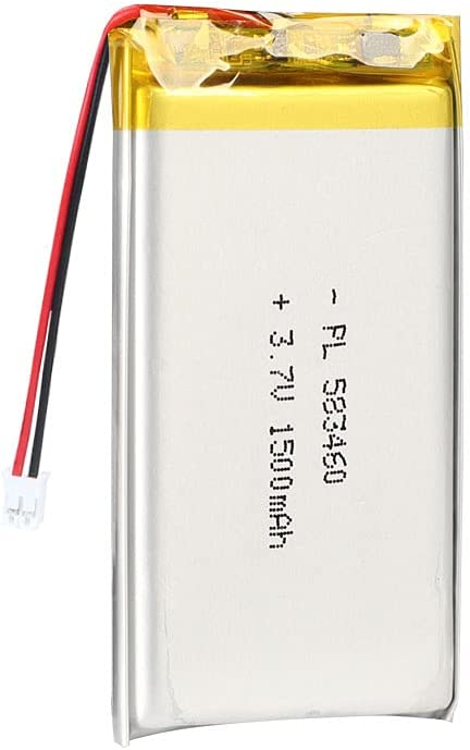AKZYTUE 3.7V 1500mAh 583460 Lipo Battery Rechargeable Lithium Polymer ion Battery Pack with JST Connector