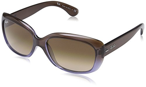 Ray-Ban Women's 0rb4101860/5158jackie Ohh Rectangular Sunglasses, Brown Gradient Lilac, 53 - Rb4101 Polarized