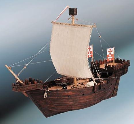 Dusek DSK003. Kit maqueta barco de madera Hanse Kogge ...