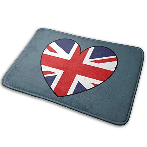 LNUO-2 Indoor Outdoor Entrance Doormat United Kingdom Great Britain Flag UK Rug Floor Mats for Patio, Rubber Non Slip Backing (Patios Outdoor Uk Rugs)