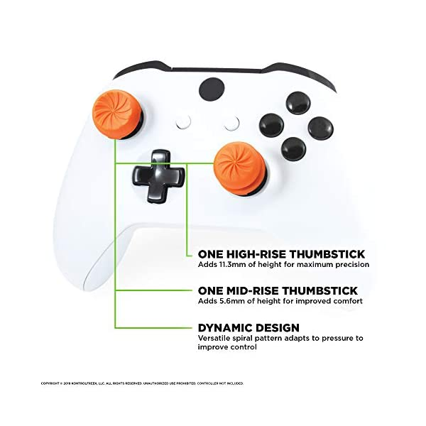 KontrolFreek FPS Freek Vortex for Xbox One Controller | Performance Thumbsticks | 1 High-Rise Convex, 1 Mid-Rise Concave… 4