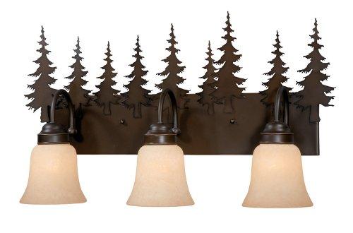 Vaxcel VL55503BBZ Yosemite 3 Light Vanity Light, Burnished Bronze Finish