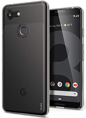 Google Pixel 3 Case, Aeska Ultra [Slim Thin] Flexible TPU Soft Skin Silicone Protective Case Cover for Google Pixel 3 (Smoke Black)