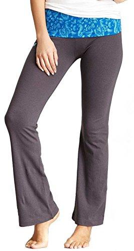 Mum Print (New Balance Mum Print Athletic Fold Over Yoga Lounge Pants - Grey/Blue - Small)