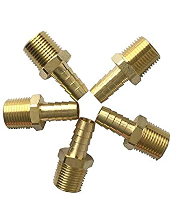 20S x 3//4 NPT Male Thread for 20MM OD Tube Heavy Series 90 Degree Male Elbow Brass Material