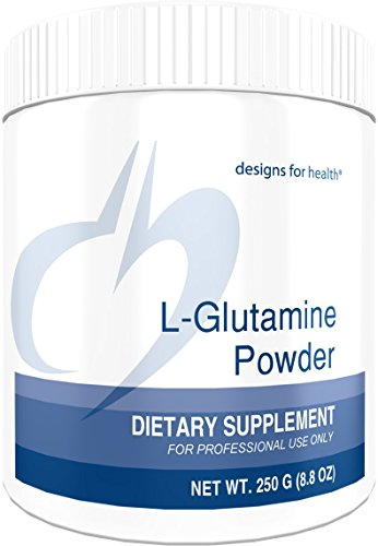 Designs for Health 3000mg L-Glutamine Powder – Amino Acid for Gut Immune Support 250g 83 Servings