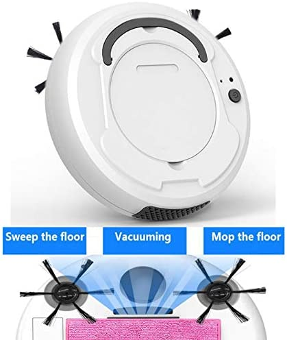 BFFDD -1800Pa Aspirateur robot multifonctions intelligent Nettoyant for planchers, 3-en-1 Auto rechargeable Cleaner balayage Wet Dry