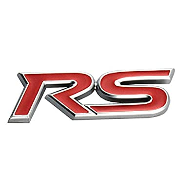 WindCar RS Emblems 3D RS Decal Emblem Sticker Badge For Camaro Chevrolet GM Series (Red): Automotive