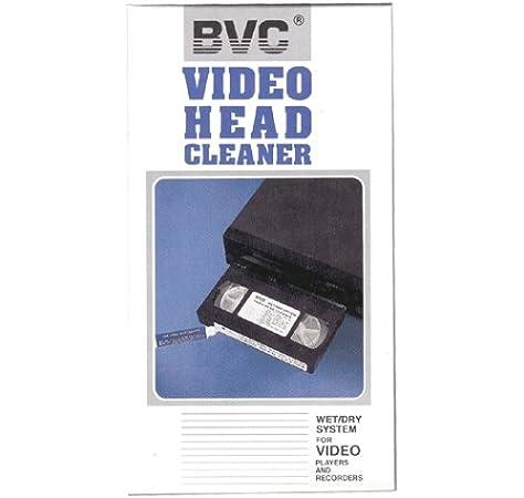 Cinta limpiadora video VHS - Wet/Dry System - BVC: Amazon.es: Electrónica