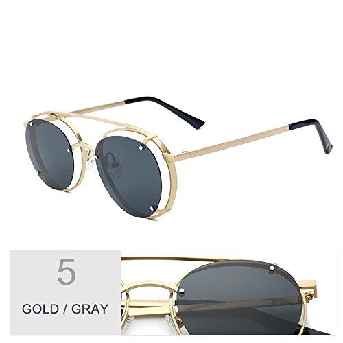 Polarizados Sol Lentes Gafas Para De De De Suspensión Anteojos Azul TIANLIANG04 Gold Plata Gray Uv400 Sol Unisex qS4xtE0