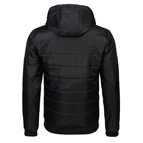 PG Wear Winterjacke Arctic in schwarz mit Sturmhaube S-XXXL