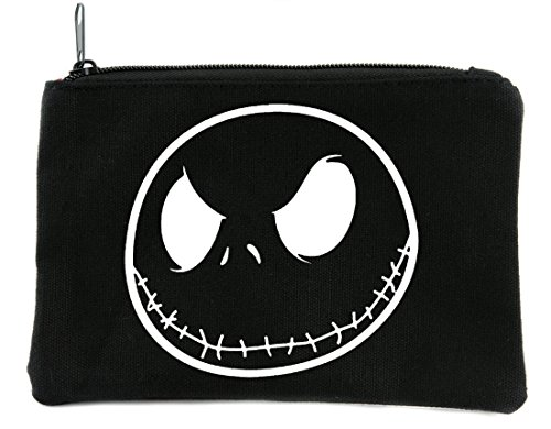 Negative Jack Skellington Face Cosmetic Makeup Bag Nightmare