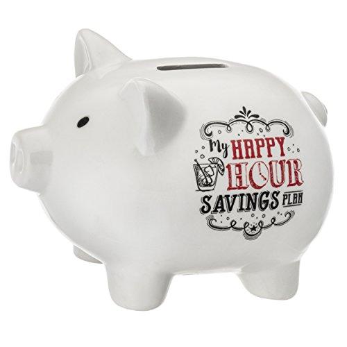 Prinz 6631-6002 Party Pigs Happy Hour Savings Plan Piggy (Happy Pig Bank)