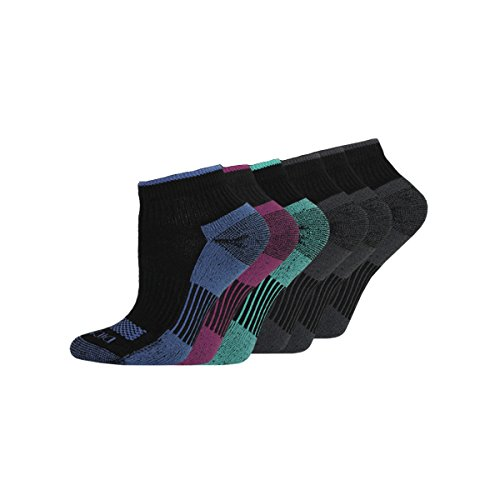 ck Dritech Quarter Socks, Black Assorted, 6-9 shoe size (Pack of 6) (Quarter Womens Socks)