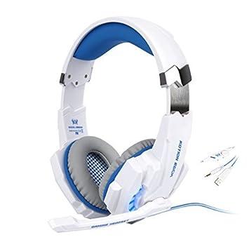 LESHP Auriculares para juegos Estéreo Auriculares Cascos Gaming Compatible con PS4 G9000 PC Ordenador Portátil y