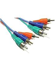 BeMatik - Cable Vídeo RGB 3xRCA (M/M) 3 Metros