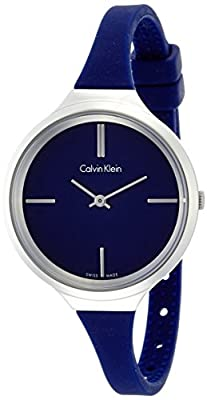 Calvin Klein K4U231VN Ladies Lively Blue Silicone Watch