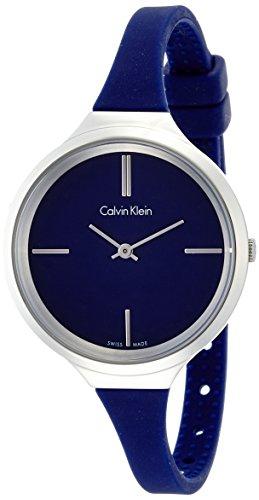 Calvin Klein Damen-Armbanduhr Analog Quarz Kautschuk K4U231VN