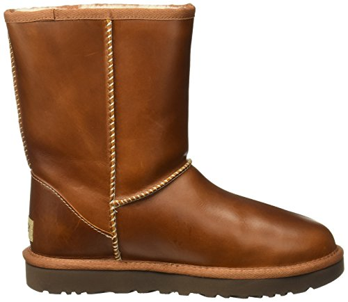 Ugg Australia Womens Classic Short Leather Boots Marrón