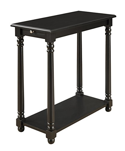 Convenience Concepts French Country Regent End Table, Black