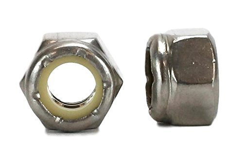 Chenango Supply Co, Inc. 18-8 USS 3/8-16 Stainless Nylon Insert Lock Nuts Qty 50 PIECES (3/8-16 NYLOCK)