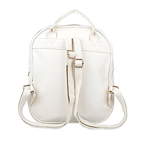 TOMATO-smile - Bolso mochila  de poliuretano para mujer multicolor azul celeste beige
