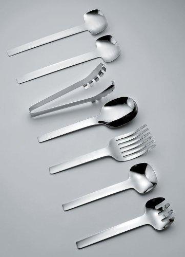 Alessi Kl13 Tibidabo Fourchette /à Spaghettis en Acier Inoxydable 18//10 Brillant