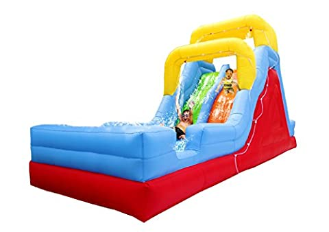 BestParty Outdoor Bouncer Fun Play Jumper 22ft Large Dual Lane Inflatable Water Slide With Blower - Bounce Houses Water Slides
