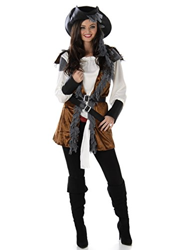 Pirate Sailor Costume Set - Halloween Womens High Seas Lady Villain, Small for $<!--$32.99-->