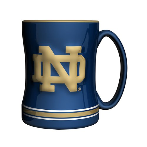 NCAA Notre Dame Irish Sculpted Relief Mug, 14-Ounce by Boelter Brands