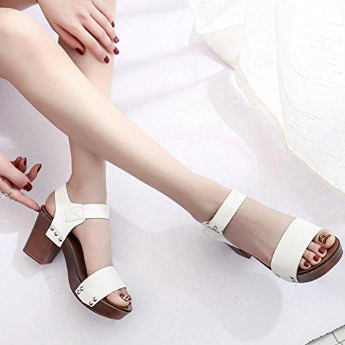 Winwintom moda sandalias de mujer bombas Zapatos de tacones altos zapatos femeninos Blanco