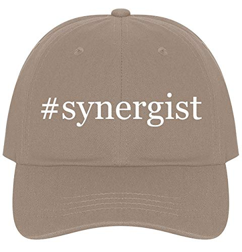The Town Butler #Synergist - A Nice Comfortable Adjustable Hashtag Dad Hat Cap, Khaki