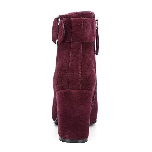 Abm13643 5 Compensées Femme Sandales Balamasa Bordeaux Rouge 36 1dqZZxR