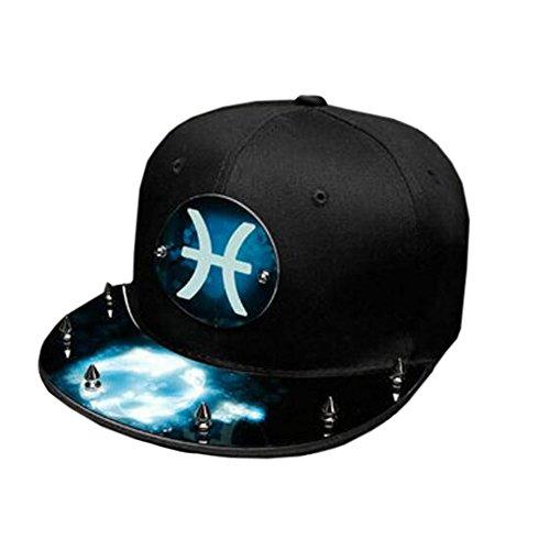Kylin Express Moda constelación Exterior Unisex Cap Ajustable Hip Hop Cap  Regalo de cumpleaños Noche- a84105bbb09