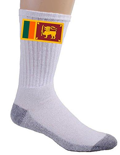 Sri Lanka Buddhist Flag (Sri Lanka - World Country National Flags - Crew Socks)