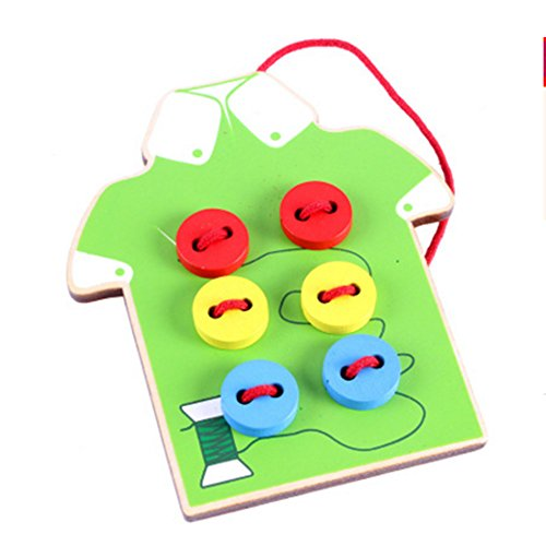 Tie-Up Cloth Seam Button Kids Learnimg To Tie Cloth Lacing Preschool Educational Toy