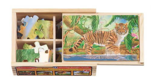 Zoo - 4 12pc Jigsaw Puzzle Melissa &