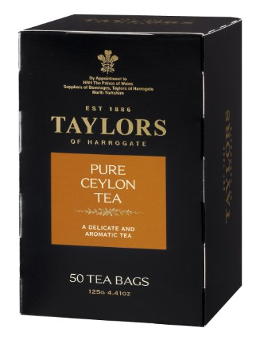 Taylors of Harrogate Pure Ceylon, 50 - Lemon Bags Slice