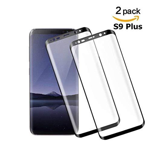 まともな受動的安価なSamsung Galaxy S9 Plus ガラスフィルム 全面 硬度9H 3Dラウンドエッジ加工 99%高透過率 高感度 強化ガラス 保護フィルム 気泡防止 飛散防止 (Samsung Galaxy S9 Plus, ブラック)