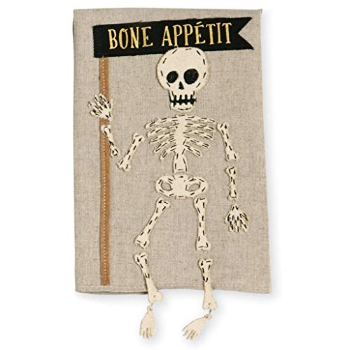 Mud Pie Skeleton Dangle Leg Linen Hand Towel]()
