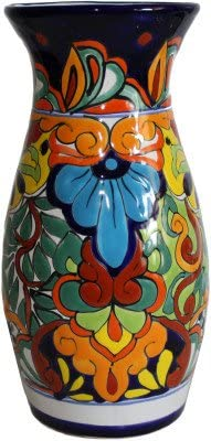 Fine Crafts Imports Colorful Talavera Round Flower Vase