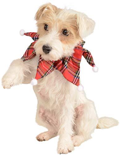 Rubie's Christmas Pet Collar, Medium to Large, Plaid ()