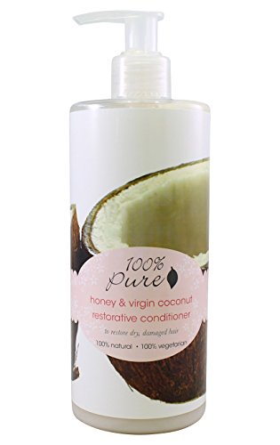 Restorative Conditioner by 100% Pure, Coconut & Honey, 13 oz